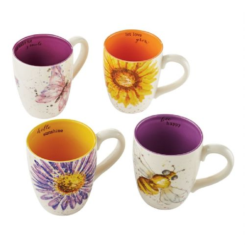 Let It Bee Inspirational Mugs - Set of 4